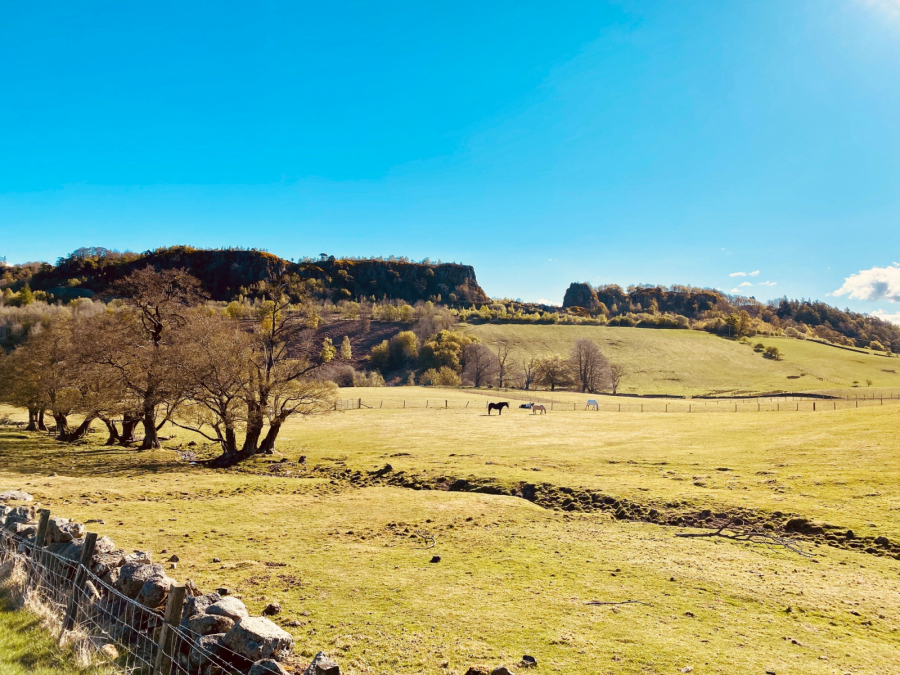 Craig Robertson: Looking up to the quarry from behind Gartur