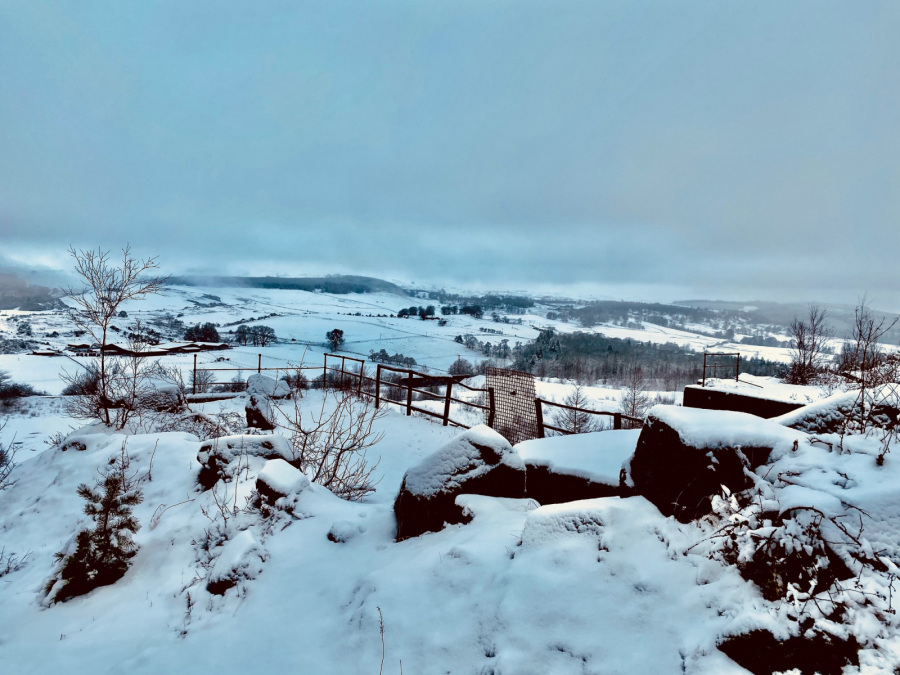 Craig Robertson: Old Quarry Site looking down to Touch Jan 2021